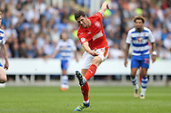 Mark Hudson, the Huddersfield Town captain taking a shot. EFL Skybet  championship match, Reading  v Huddersfield Town at The Madejski Stadium in Reading, Berkshire on Saturday 24th September 2016.<br /> pic by John Patrick Fletcher, Andrew Orchard sports photography.