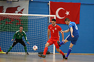 Deaf Futsal European championship qualifying tournament,  action from Wales (in red)  v Bosnia & Herzegovina at Cardiff Metropolitan University, in Cardiff , South Wales on Friday 19th January 2018.  pic by Andrew Orchard/