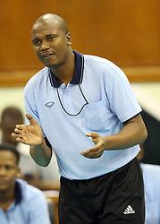 Botswana Head Coach Isaac Thengelani instructs his charges against Rwandese during their U23 Africa Nations Championship at Safaricom Stadium Stadium in Nairobi on October 26, 2016. Rwanda won 3-0. Photo/Fredrick Onyango/www.pic-centre.com (KEN)