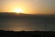 Israel, Dead Sea, sunrise over the Dead-Sea