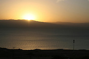 Israel, Dead Sea, sunrise over the Dead-Sea