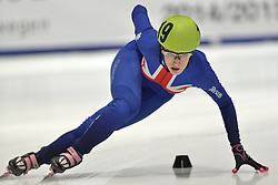 24-01-2015 NED: ISU European Championships Shorttrack, Dordrecht<br /> Europees kampioene Elise Christie GBR