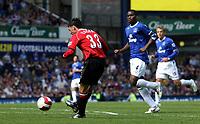 Photo: Paul Thomas.<br /> Everton v Manchester United. The Barclays Premiership. 28/04/2007.<br /> <br /> Chris Eagles scores Utd's fourth goal.