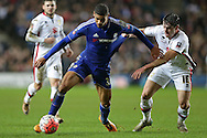 Joe Walsh of MK Dons intercepts Ruben Loftus-Cheek of Chelsea. The Emirates FA cup, 4th round match, MK Dons v Chelsea at the Stadium MK in Milton Keynes on Sunday 31st January 2016.<br /> pic by John Patrick Fletcher, Andrew Orchard sports photography.