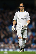 Claudio Bravo of Manchester City  during the English Premier League match at The Etihad Stadium, Manchester. Picture date: December 12th, 2016. Photo credit should read: Lynne Cameron/Sportimage