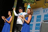 Podium, Hotess, miss, Soren Kragh Andersen (DEN - Team Sunweb) during the Tour de France 2018, Stage 4, Team Time Trial, La Baule - Sarzeau (195 km) on July 10th, 2018 - Photo Ilario Biondi / BettiniPhoto / ProSportsImages / DPPI