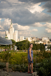 July 13, 2018 - Moscow, Russia - 180713 A women is seen in a park in central Moscow during the FIFA World Cup on July 13, 2018 in Moscow..Photo: Petter Arvidson / BILDBYRN / kod PA / 92086 (Credit Image: © Petter Arvidson/Bildbyran via ZUMA Press)