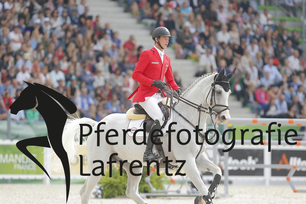 Deusser, Daniel, Cornet D´Amour<br /> Normandie - WEG 2014<br /> Springen - Finale IV<br /> © www.sportfotos-lafrentz.de/ Stefan Lafrentz