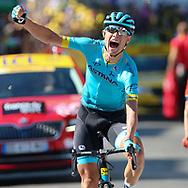 Magnus Cort Nielsen (DEN - Astana Pro Team) winner during the 105th Tour de France 2018, Stage 15, Millau - Carcassonne (181,5 km) on July 22th, 2018 - Photo George Deswijzen / Pro Shots / ProSportsImages / DPPI
