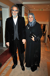 YUSUF ISLAM (Cat Stevens) and his wife at the 3rd Fortune Forum Summit held at The Dorchester Hotel, Park Lane, London on 3rd March 2009.