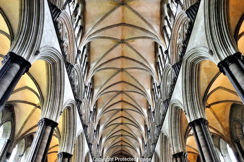 Ceiling of Salisbury cathedral