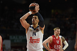 January 27, 2017 - Madrid, Madrid, Spain - Gustavo Ayón, #14 of Real Madrid in action during the Euroleague basketball match between Real Madrid and EA7 Emporio Armani Milano. (Credit Image: © Jorge Sanz GarcíA/Pacific Press via ZUMA Wire)