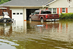 Aug 27, 2017 - Houston, Texas, U.S. - Floating genarator from Westbury resident, the heavy rain coming from the aftermath of hurricane Harvey. More rain is expect the next few days in Houston. (Credit Image: © George Wong via ZUMA Wire)