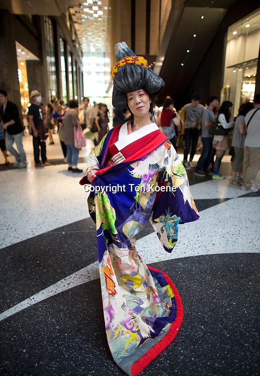 traditional kimono in Japan