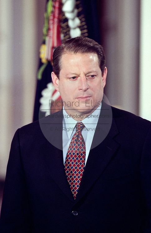 President Bill Clinton before unveiling the Year 2000 federal budget February 1, 1999 at a White House ceremony in Washington, DC.