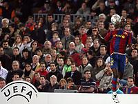 Fotball<br /> Italia<br /> Foto: Inside/Digitalsport<br /> NORWAY ONLY<br /> <br /> 07.11.2007<br /> UEFA Champions League<br /> Barcelona v Glasgow Rangers<br /> <br /> Abidal