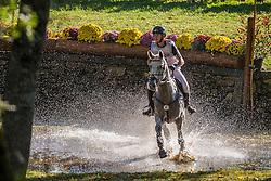 Carlile Thomas (FRA) - Upsilon<br /> Cross country 6 years old horses<br /> Mondial du Lion - Le Lion d'Angers 2014<br /> © Dirk Caremans<br /> 18/10/14