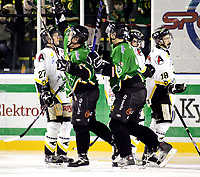 Ishockey , 06. desember 2007 , GET-ligan , Comet - Stavanger , Bjørn Linden Comet jubler etter å ha scoret det første målet i kampen , Foto: Thomas Andersen , Digitalsport