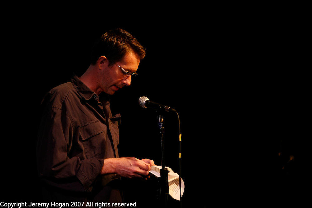 Tim Moran reads poetry at the Bowery Poetry Club during the 2007 Howl Festival in New York City.