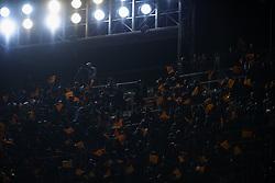 February 28, 2019 - Valencia, Valencia, Spain - Supporters of Valencia during the Copa del Rey Semi Final match second leg between Valencia CF and Real Betis Balompie at Mestalla Stadium in Valencia, Spain on February 28, 2019. (Credit Image: © Jose Breton/NurPhoto via ZUMA Press)