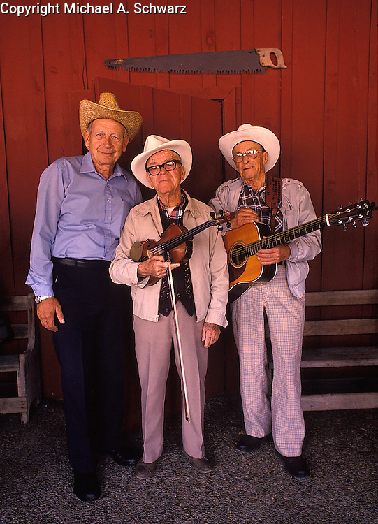 Bluegrass musicians at the Museum of Appalachia