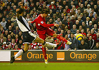 Photo: Aidan Ellis.<br /> Liverpool v Tottenham Hotspur. The Barclays Premiership.<br /> 14/01/2006.<br /> Liverpool's Harry Kewell scores the only goal