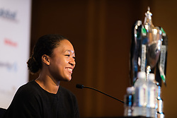 October 20, 2018 - Kallang, SINGAPORE - Naomi Osaka of Japan talks to the media during the All Access Hour of the 2018 WTA Finals tennis tournament (Credit Image: © AFP7 via ZUMA Wire)