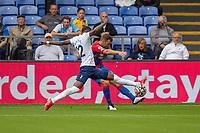 Football - 2021/2022  Premier League - Crystal Palace vs Tottenham Hotspur - Selhurst Park  - Saturday 11th September 2021.<br /> <br /> Emerson (Tottenham Hotspur) stretches to block the attempted cross at Selhurst Park.<br /> <br /> COLORSPORT/DANIEL BEARHAM
