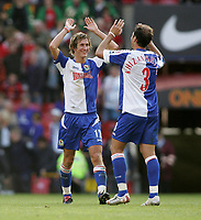 Fotball<br /> Premier League England<br /> 24.09.2005<br /> Foto: imago/Digitalsport<br /> NORWAY ONLY<br /> <br /> Morten Gamst Pedersen (li.) und Zurab Khizanishvili (beide Blackburn)