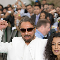 SHEFFIELD, UNITED KINGDOM - 9th June 2007: Bollywood actor Kabir Bedi and girlfriend at  International Indian Film Academy Awards (IIFAs) at the Sheffield Hallam Arena on June 9, 2007 in Sheffield, England.