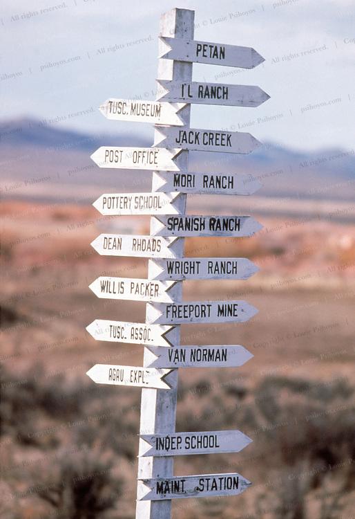 Road sign near Spanish Ranch in Tuscarora, Nevada.