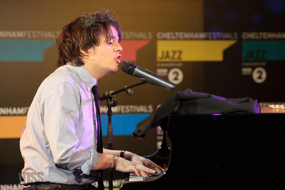 Jamie Cullum in rehearsal for live show at Cheltenham Jazz Festival, 2011-04-27