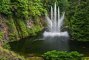 Ross Fountain at Butchart Gardens Canada