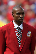 04 June 2011: 2011 National Soccer Hall of Fame Inductee Eddie Pope was honored before the game. The Spain Men's National Team defeated the United States Men's National Team 4-0 at Gillette Stadium in Foxborough, Massachusetts in an international friendly soccer match.