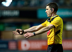 Referee George Clancy<br /> <br /> Photographer Simon King/Replay Images<br /> <br /> Guinness PRO14 Round 15 - Cardiff Blues v Glasgow Warriors - Saturday 16th February 2019 - Cardiff Arms Park - Cardiff<br /> <br /> World Copyright © Replay Images . All rights reserved. info@replayimages.co.uk - http://replayimages.co.uk