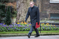 © Licensed to London News Pictures. 10/01/2017. London, UK. Scotland Secretary David Mundell arrives on Downing Street ahead of the weekly Cabinet meeting. Photo credit: Rob Pinney/LNP