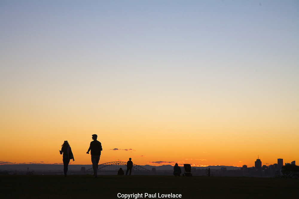 Dudley Page reserve silhouette, Sydney