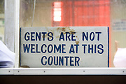 India, Mumbai, women-only counter at the train station.
