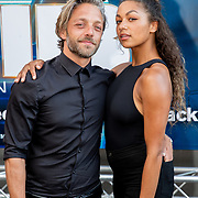 NLD/Amsterdam/20190617 - Men in Black International premiere, Tommie Christiaan en partner Jamie Dors