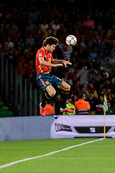 Spain's Marcos Alonso during UEFA Nations League 2019 match between Spain and England at Benito Villamarin stadium in Sevilla, Spain. October 15, 2018. Photo by A. Perez Meca/Alterphotos/ABACAPRESS.COM