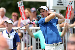 August 5, 2018 - Akron, Ohio, United States - Ross Fisher tees off the 14th hole during the final round of the WGC-Bridgestone Invitational at Firestone Country Club. (Credit Image: © Debby Wong via ZUMA Wire)