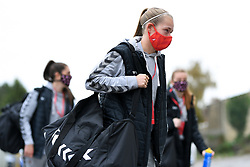 Flo Allen of Bristol City Women arrives at Twerton Park prior to kick off - Mandatory by-line: Ryan Hiscott/JMP - 18/10/2020 - FOOTBALL - Twerton Park - Bath, England - Bristol City Women v Birmingham City Women - Barclays FA Women's Super League