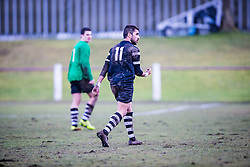 Edusport Academy Yassine Fartassi at the end.<br /> Whitehill Welfare 2 v 1 Edusport Academy, South Challenge Cup Quarter Final played 7/3/2015 at Ferguson Park, Carnethie Street, Rosewell.