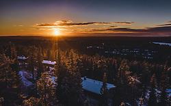 THEMENBILD - Sonnenaufgang über Ruka mit seiner Landschaft, aufgenommen am 25. November 2018 in Ruka, Finnland // Sunrise over Ruka with its landscape, Ruka, Finland on 2018/11/25. EXPA Pictures © 2018, PhotoCredit: EXPA/ JFK