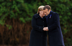 Angela Merkel and Emmanuel Macron commemorate the end of the First World War 100 years ago -  11 Nov