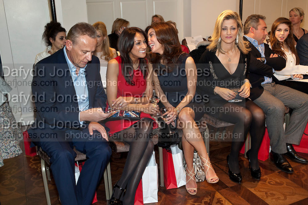 CARL MICHAELSON;  JACKIE ST. CLAIRE; MEZGHAN HUSSAINY; SHOSHANA DADOUN, , Stephane St. Jaymes Spring Summer 2011 fashion show.<br /> The Westbury Mayfair, Bond Street, London,DO NOT ARCHIVE-© Copyright Photograph by Dafydd Jones. 248 Clapham Rd. London SW9 0PZ. Tel 0207 820 0771. www.dafjones.com.
