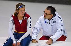 05-01-2003 NED: Europees Kampioenschappen Allround, Heerenveen<br /> 5000 m - Marja Vis NED