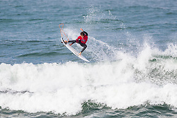 Kalani David (HAW) surfing in Qualifying Round 2 Heat 1 of the WSL Redbull Airborne event in Hossegor, France.