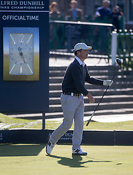 Hugh Grant. Alfred Dunhill Links Championship this morning at St Andrews.
