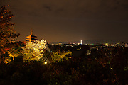 Kyoto cityscape at night
